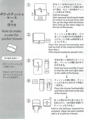 ポケットティッシュケースの作り方
