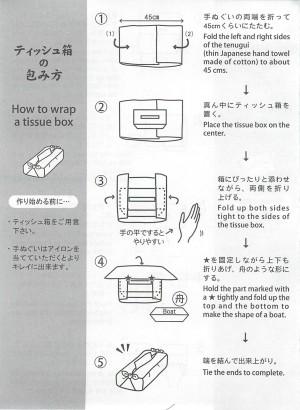 ティッシュ箱の包み方