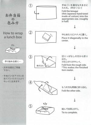 お弁当箱の包み方