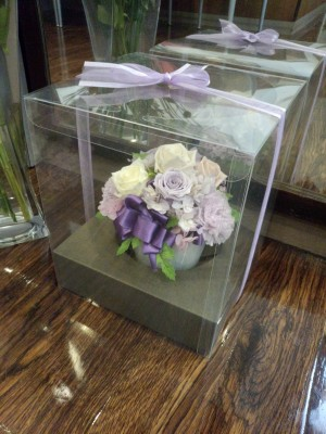 結婚式後に頂いた造花✿