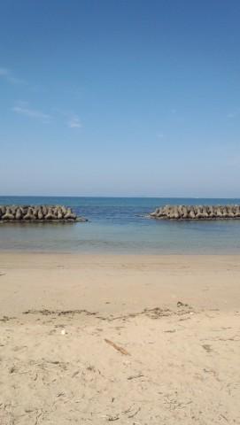 綺麗な海です。水温高かったですよ。